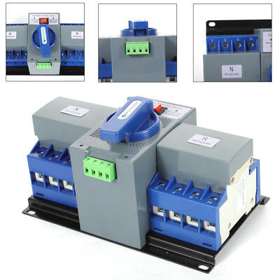 50hz60hz 63a 4p Dual Power Automatic Transfer Switch Cb Level M6 Generator New