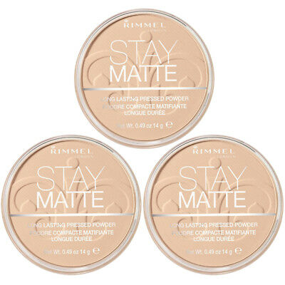 NEW Rimmel Stay Matte Pressed Powder Creamy Natural 0.49 Ounces (3