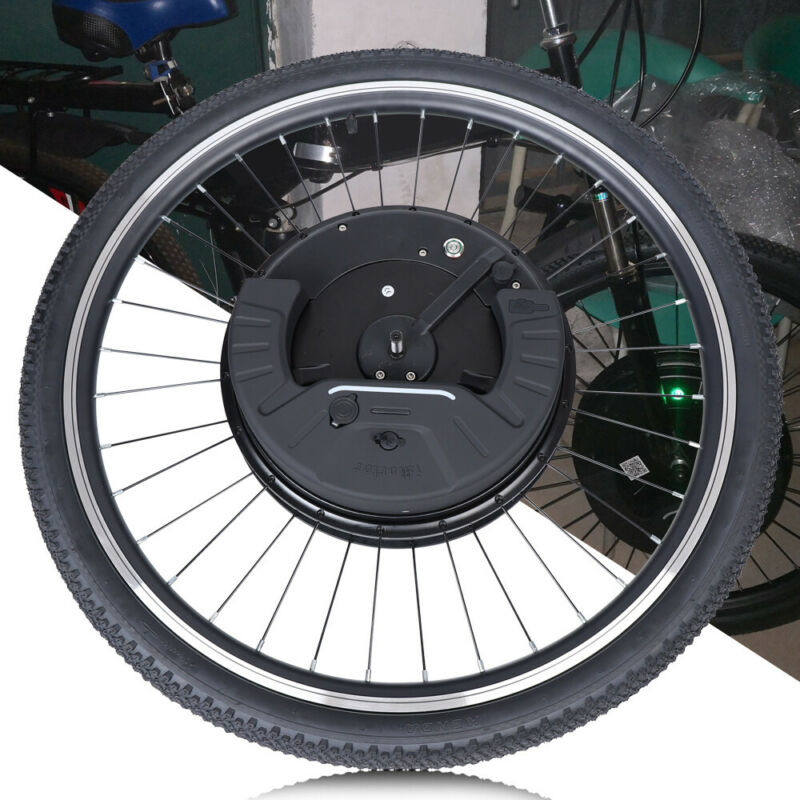 24inch/700C 36V Electric Bicycle Front Wheel Ebike Motor Conversion Kit Black