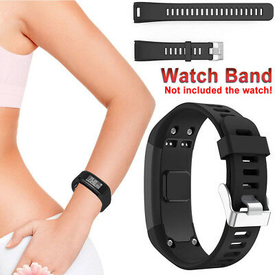 - Adjustable Watchband Silicone Sport Strap Band Replace For Garmin Vivosmart HR