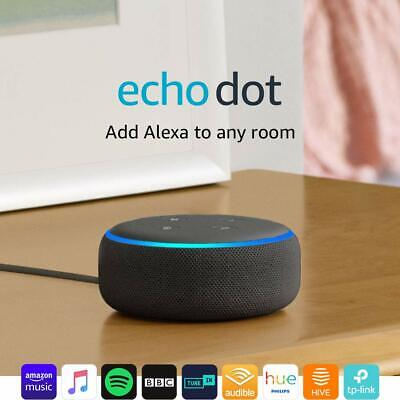 Amazon Echo Dot (3rd Gen) - Smart Speaker with Alexa - Charcoal Fabric FAST