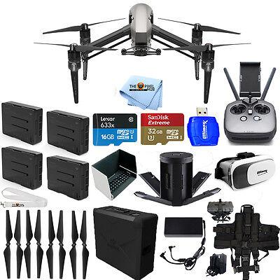 Dji Inspire 2 Quadcopter W  Cinecore 2 0 Image Processing 4 Battery Bundle New