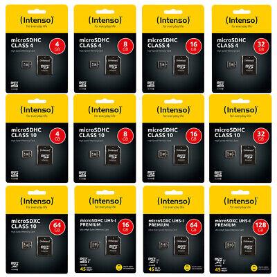 Micro SD Karte Intenso SDHC 4 -128 GB Card Speicherkarte microSDHC UHS-I