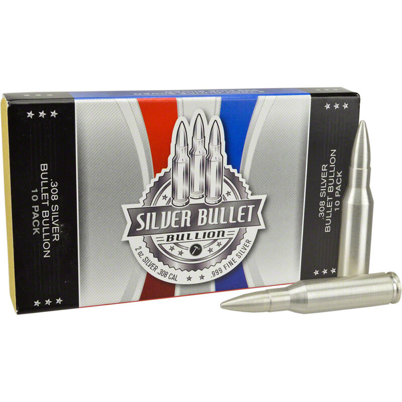 2 oz Silver Bullet .308 Caliber - .999 Fine - Box of 10