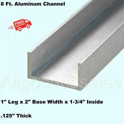 Aluminum Channel 1 Leg X 2 Base Width X 1-34 Inside X 18 Thick X 8 Ft