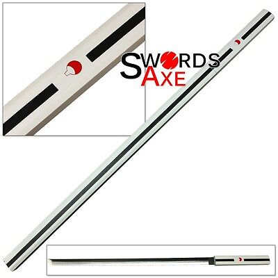 Wooden Japanese Anime Ninja Samurai Katana Sword White Cosplay Replica Lead-free (Wooden Ninja Sword)