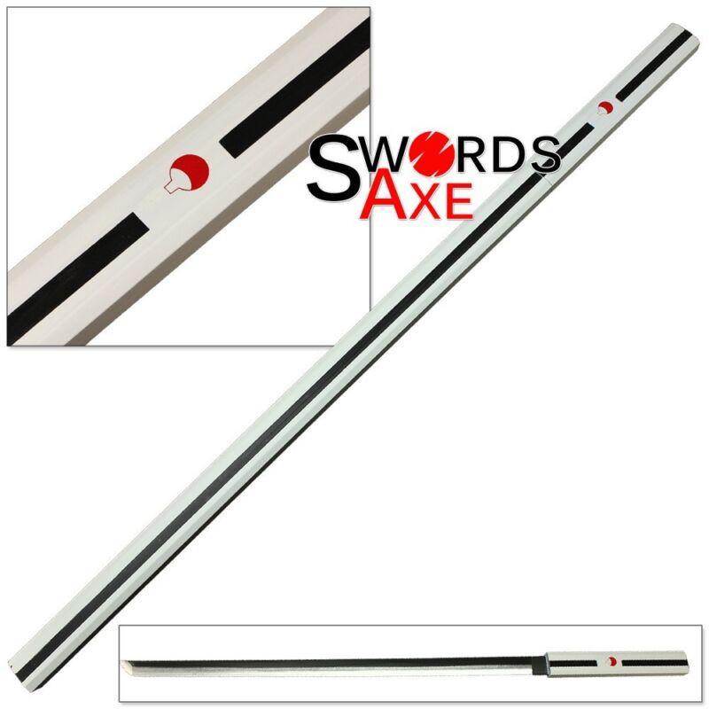 Wooden Japanese Anime Ninja Samurai Katana Sword White Cosplay Replica Lead-free