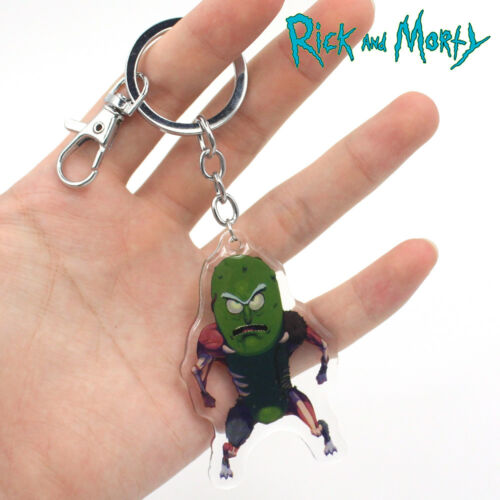 Pickle Rick and Morty Keychain Keyring Pendants Cosplay Collect PVC  Keychains 11a5275815