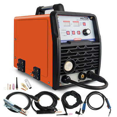 220v Mig Welder Inverter 200a Gas Flux Core Mig Tig Stick Combo Welding Machine
