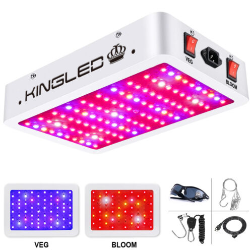 KING 1000W Double Chips LED Full Spectrum Grow Light Hydropo