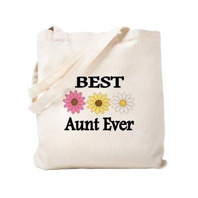 CafePress BEST AUNT EVER WITH FLOWERS Tote Bag