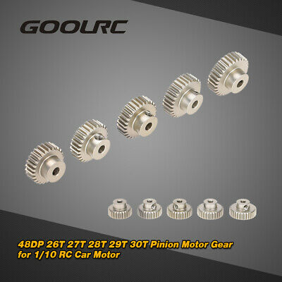 GoolRC 48DP 26T 27T 28T Pinion Motor Gear Combo Set for 1/10 RC Latest G0W7 Motorized Gear Set