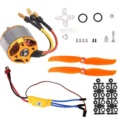 2200KV Brushless Motor 2212-6 30A ESC Mount Assembly for RC helicopter Airplane