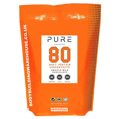 Pure Whey 80 Protein Powder 500g 1kg 2kg 5kg Anabolic Lean Muscle Mass Shake