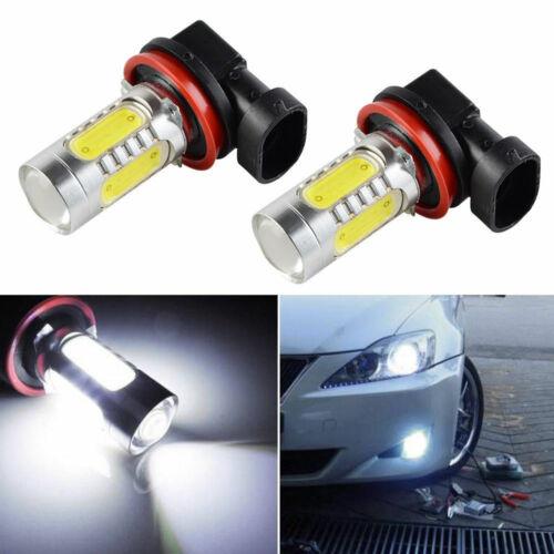 2x HID White H11 High Power COB LED Projector Bulbs For Car Driving Fog Light