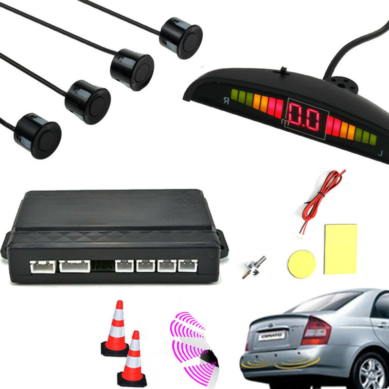 Car Parts - LED Display Car Parking Rear Reversing Sensors Kit Buzzer Audio Alarm Parktronic