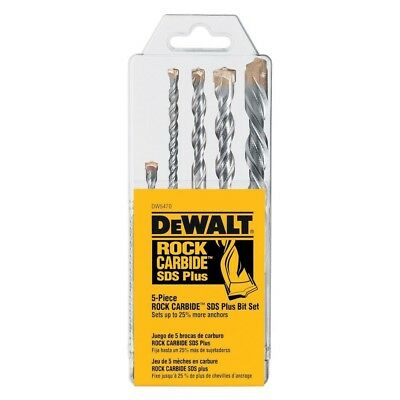 Dewalt Dw5470 5 Piece Sds Rock Carbide Hammer Bit Set