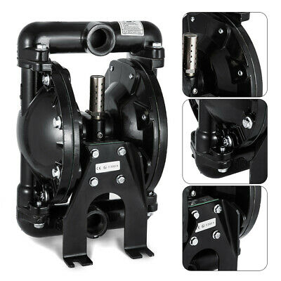 Air-operated Double Diaphragm Pump 1inlet Outlet Aluminum 35gpm Max 120psi