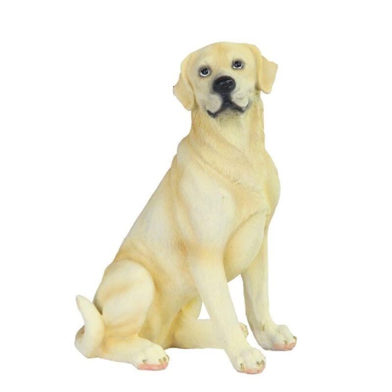 Yellow Labrador Retriever Dog Figurine New
