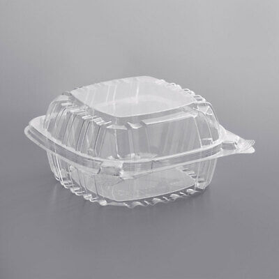 100 Pack Dart 5 Containers Clear Hinged Plastic Food Take Out To-goclamshell