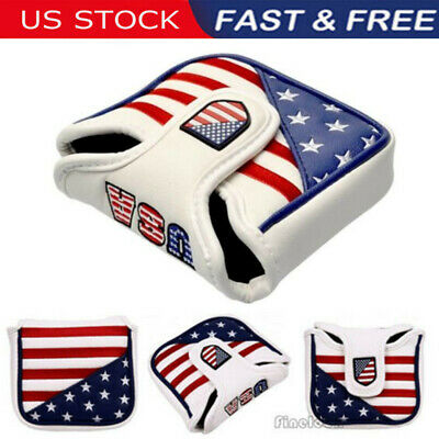 USA Square Mallet Putter Cover Golf Headcover For TaylorMade Spider Tour (Mallet Putter Golf Headcover)