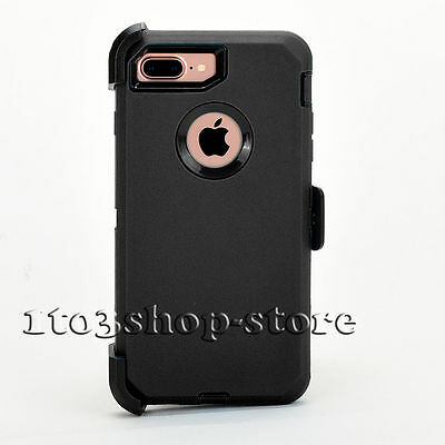 iPhone 7 Plus iPhone 8 Plus Case w Holster Belt Clip for Defender Black 7167024e3cf1