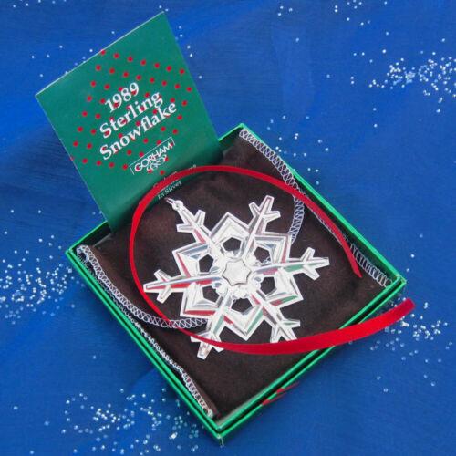 NEW • Gorham 1989 SNOWFLAKE Sterling Silver Christmas Ornament  Pendant 20th Ed