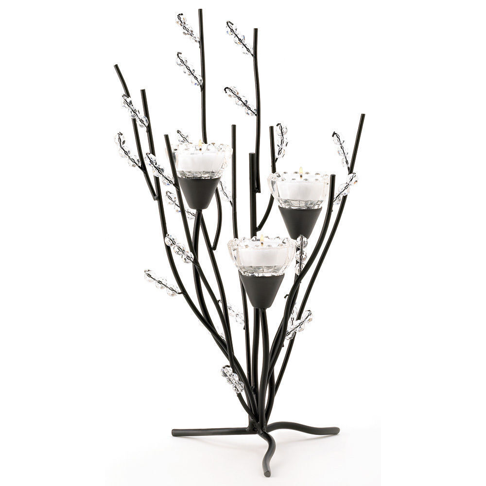 Set of 2 Crystal Tree Tealight Candle Holder Centerpiece | eBay