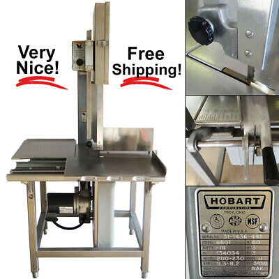 Hobart 6801 142 Vertical Meat Band Saw W Blade 3hp 200-230v 60hz 3-phase