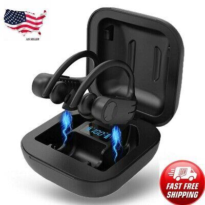 Sport Earphone Running Earbuds Bluetooth Wireless with Ear Hook Charging Display