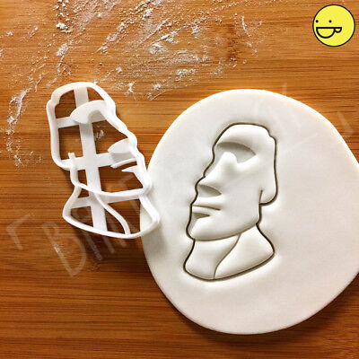 Moai cookie cutter | Easter Island statue head Archaeology monolithic biscuit Status Cookie Cutter