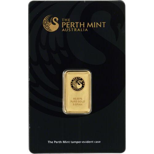 Купить 5 gram Gold Bar - Perth Mint - 99.99 Fine in Assay