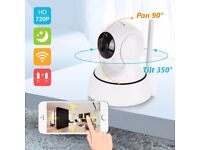 ip cctv camera iphone/android 720p HD wifi camera pan tilt aerial can be moved via phone!