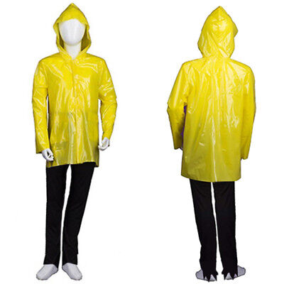 Yellow Child Boy Costume for Cosplay IT Georgie Raincoat Halloween Party HC-368 (Yellow Raincoat Halloween Costume)