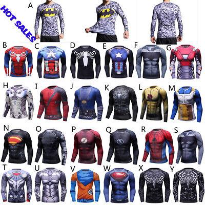Batman Tights (BJJ Rash Guard MMA Long Sleeve Tight Wear Superman Batman Spider man Hero)