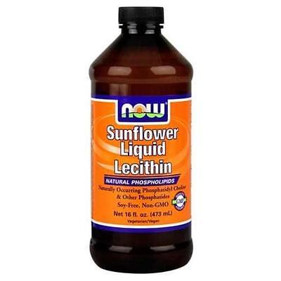 Now Foods Sunflower Lecithin Liquid 16Oz Natural Phospholipids Fresh 01 2021