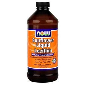 NOW FOODS SunFlower Lecithin Liquid 16oz Natural Phospholipids Fresh 01/2021