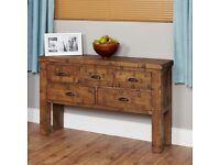 Shipton Rustic Oak Console Table