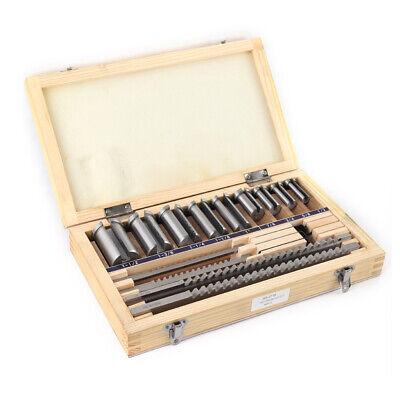 18 Pc Hss Keyway Broach Set Standard Cutting Bushings Shim Harden W Wooden Box
