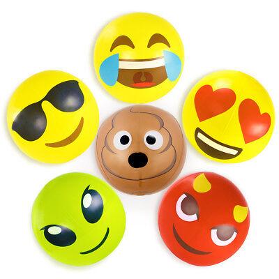 Pack of 6 Emoji Inflatable Beach Balls 18
