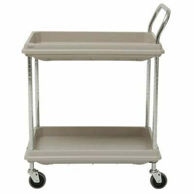 Hubert Utility Cart With 2 Deep Shelves Grey Plastic - 38 34l X 27 W X 41 H