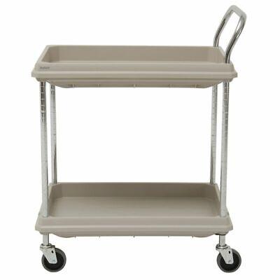 Hubert Utility Cart With 2 Deep Shelves Grey Plastic - 38 34l X 27 W X 41 H