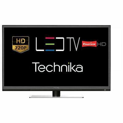 "Technika 24F22B 24"" LED TV HD Ready 720p With Freeview HD Tuner HDMI USB Black"