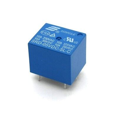5Pcs Songle 5V DC Relay SRD-05VDC-SL-C 10A 250VAC for Arduino