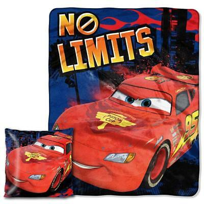 Disney Cars Limitless Pillow & Throw 2 pieces set McQueen Bl