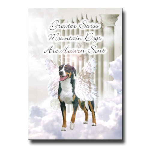 GREATER SWISS MOUNTAIN DOG Heaven Sent FRIDGE MAGNET DOG Pet Loss