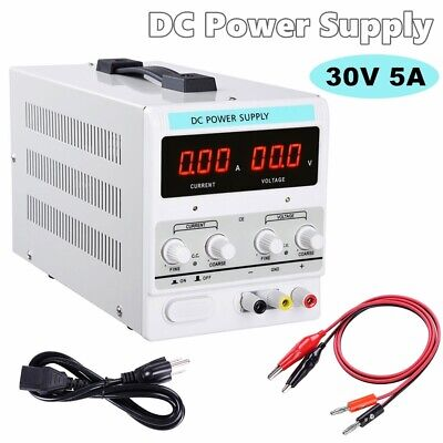 Power Supply 30v 5a 110v Precision Variable Dc Digital Adjustable Lab Wclip