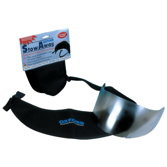 OXFORD STOWAWAY Spare Motorcycle Visor Carrier - Black OF588 Visor  waist Pouch