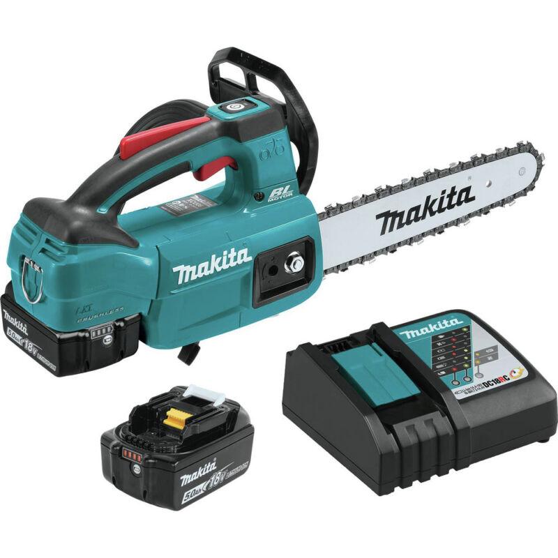Makita XCU06T 18V LXT Li-Ion 10 in. Top Handle Chain Saw Kit (5.0Ah) New
