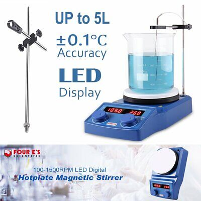 Magnetic Stirrer Lab Mixer Led Digital Hot Plate Ceramic Coated Plate With Stand